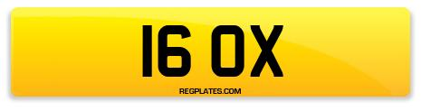 Registration 16 OX
