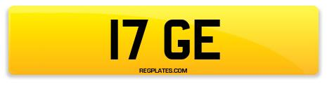 Registration 17 GE