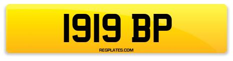Registration 1919 BP