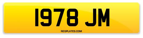 Registration 1978 JM