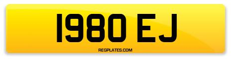 Registration 1980 EJ