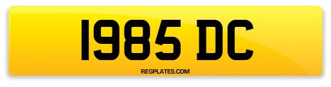 Registration 1985 DC