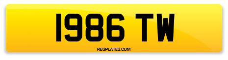 Registration 1986 TW
