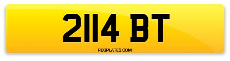 Registration 2114 BT
