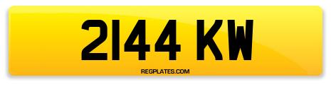 Registration 2144 KW