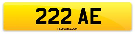 Registration 222 AE
