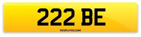 Registration 222 BE