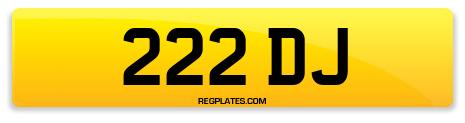 Registration 222 DJ