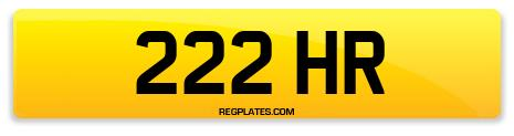 Registration 222 HR