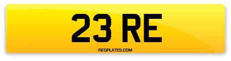 Registration 23 RE