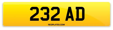 Registration 232 AD