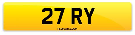 Registration 27 RY