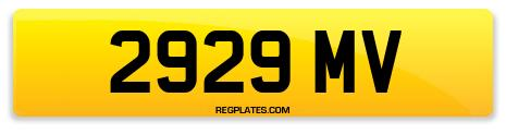 Registration 2929 MV