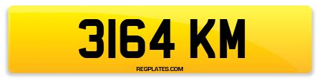 Registration 3164 KM