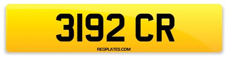 Registration 3192 CR