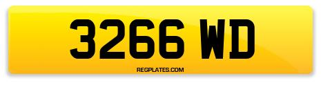 Registration 3266 WD
