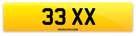 Registration 33 XX