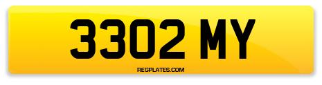 Registration 3302 MY
