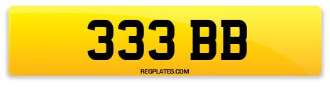 Registration 333 BB
