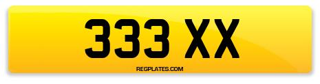 Registration 333 XX