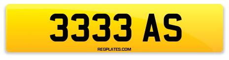 Registration 3333 AS