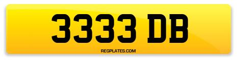 Registration 3333 DB