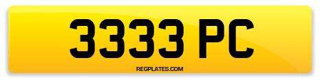 Registration 3333 PC
