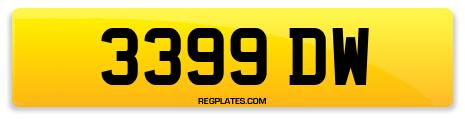 Registration 3399 DW