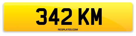 Registration 342 KM