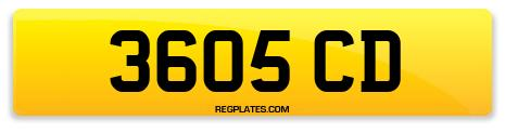 Registration 3605 CD