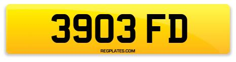 Registration 3903 FD