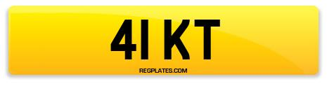 Registration 41 KT