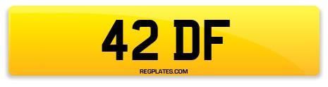 Registration 42 DF