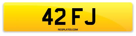 Registration 42 FJ