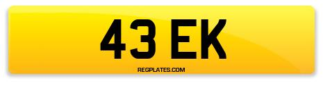 Registration 43 EK