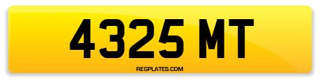 Registration 4325 MT