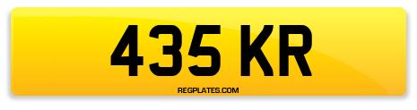 Registration 435 KR