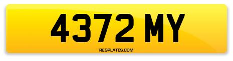 Registration 4372 MY