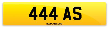 Registration 444 AS