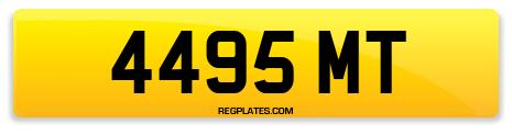 Registration 4495 MT