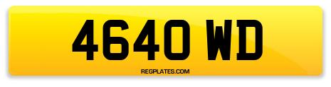 Registration 4640 WD