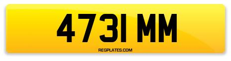 Registration 4731 MM