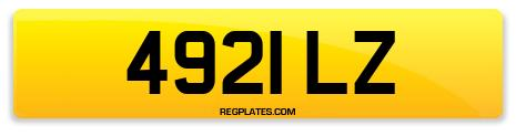 Registration 4921 LZ