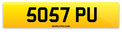 Registration 5057 PU