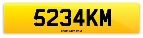 Registration 5234KM