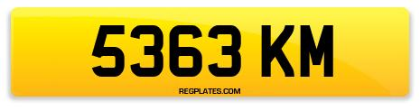 Registration 5363 KM