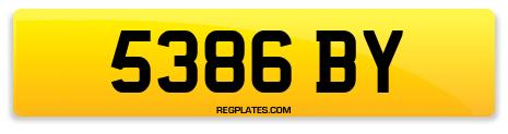 Registration 5386 BY