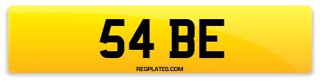 Registration 54 BE