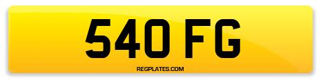 Registration 540 FG