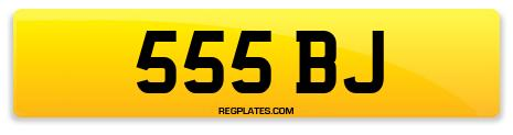 Registration 555 BJ